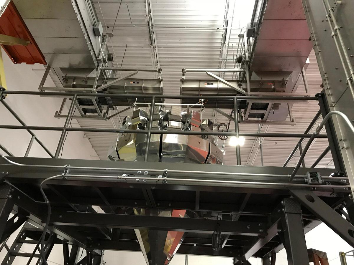 Installation of Frazier & Son Bucket Elevators at yet another contract packaging facility!